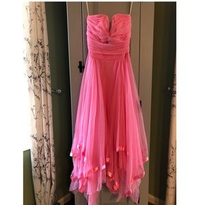 Bubblegum pink Cache tulle formal dress